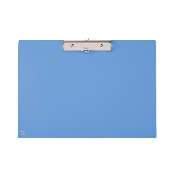 (まとめ) ライオン事務器 PETカラー用箋挟B4ヨコ ブルー No.231K 1枚 【×10セット】