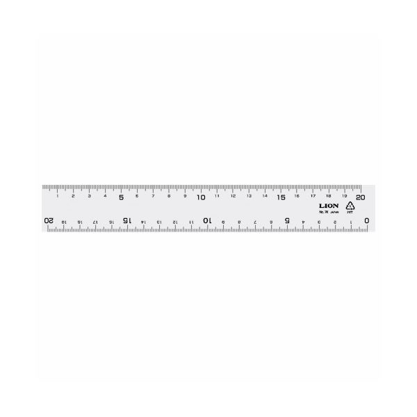 (まとめ) ライオン事務器 再生PET直線定規20cm No.7K 1本 【×50セット】