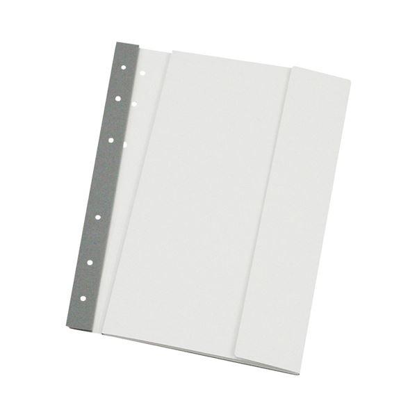 (まとめ) 桜井 エコメディアファイル スリムA4 6穴 白 EMFA4WS 1パック(5冊) 【×10セット】