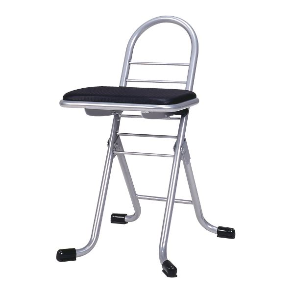 在宅ワーク 在宅勤務 テレワーク リモートワーク 自宅勤務 快適 効率プロワークチェア 折りたたみ椅子 折り畳み椅子 折りたたみチェア 折り畳みチェア ご予約品 学習椅子 シンプル 日本製 ミニ スチールパイプ 幅420mm プロワークチェア 与え ワークチェア ブラック×シルバー 代引不可