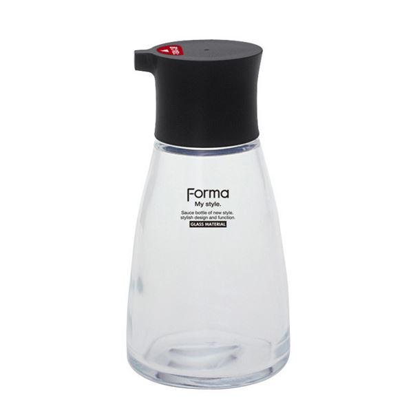(まとめ) 醤油差し/しょうゆ容器 【大】 ブラック 液だれ防止機能付き キッチン用品 『フォルマS』 【40個セット】