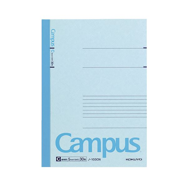 (まとめ) コクヨ キャンパスノート(細横罫) A5 C罫 30枚 ノ-103CN 1セット(20冊) 【×10セット】