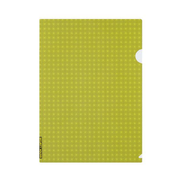 (まとめ) コクヨクリヤーホルダー(セキュリティビュー) A4 黄 フ-SS750Y 1セット(5枚) 【×30セット】