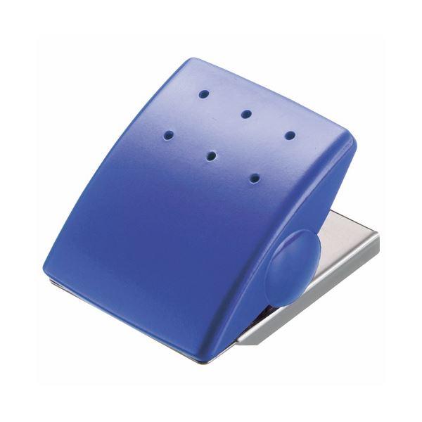 (まとめ) ライオン事務器 マグネットクリップW43×D53×H33mm ブルー MC-1B 1個 【×30セット】