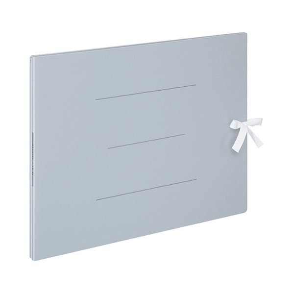 (まとめ) コクヨ ガバットファイルS(ストロングタイプ・紙製) A3ヨコ ひも付き 1000枚収容 背幅13~113mm 青 フ-SH948B 1冊 【×10セット】