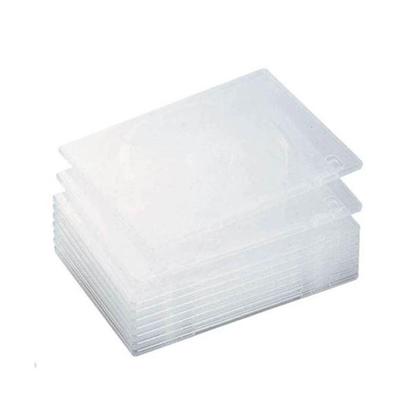 (まとめ) エレコム スリムDVDトールケース1枚収納 クリア CCD-DVDS03CR 1パック(10枚) 【×30セット】