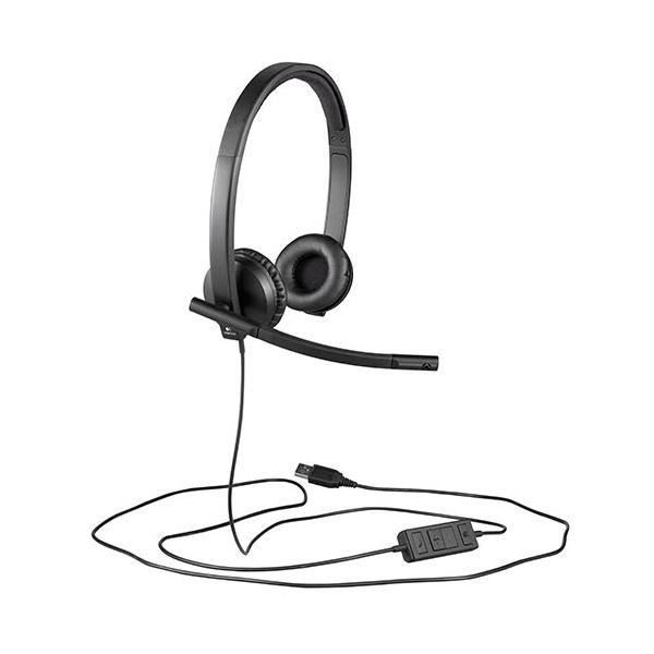 (まとめ)ロジクール USBヘッドセットH570e ブラック H570e 1個【×3セット】