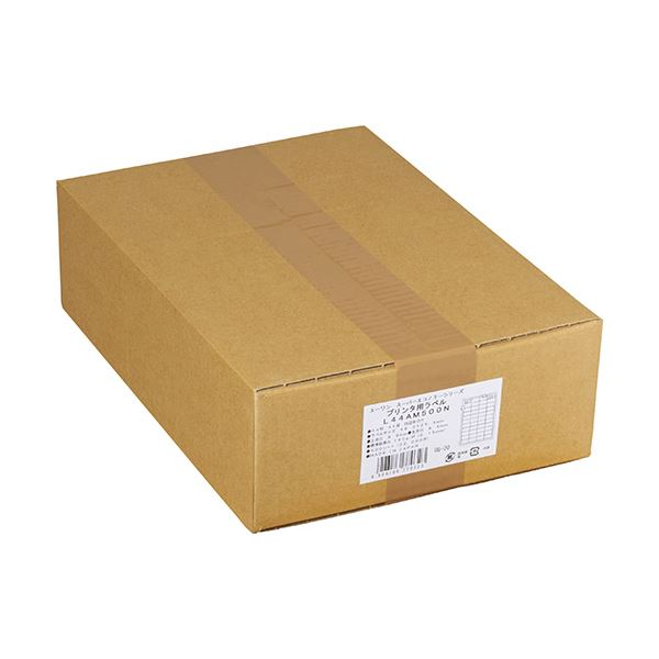 (まとめ)エーワン スーパーエコノミーシリーズプリンタ用ラベル A4 44面 48.3×25.4mm 四辺余白付 L44AM500N 1箱(500シート)【×3セット】