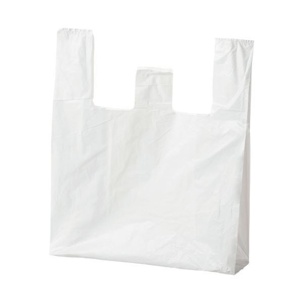 (まとめ) ジャパックス ランチバッグ エコタイプ特大 乳白 RBF30 1パック(100枚) 【×30セット】
