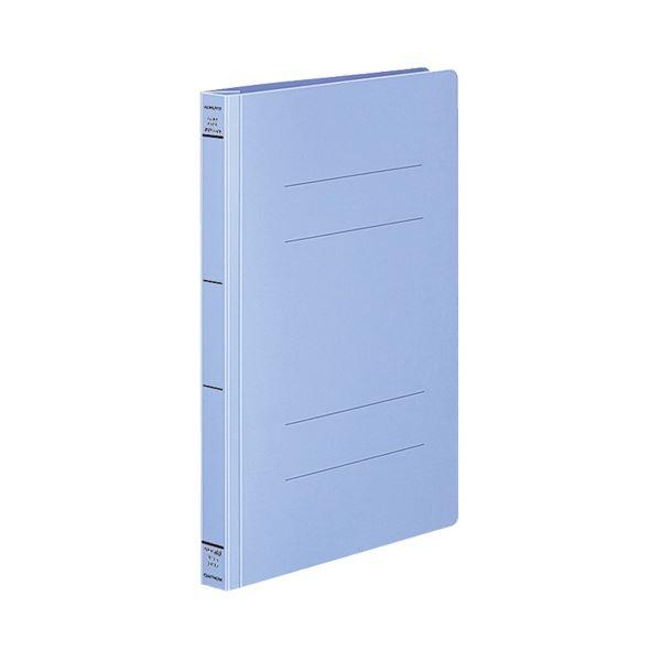 (まとめ) コクヨ フラットファイル(PPワイド) A4タテ 250枚収容 背幅30mm 青 フ-HW10NB 1セット(10冊) 【×10セット】