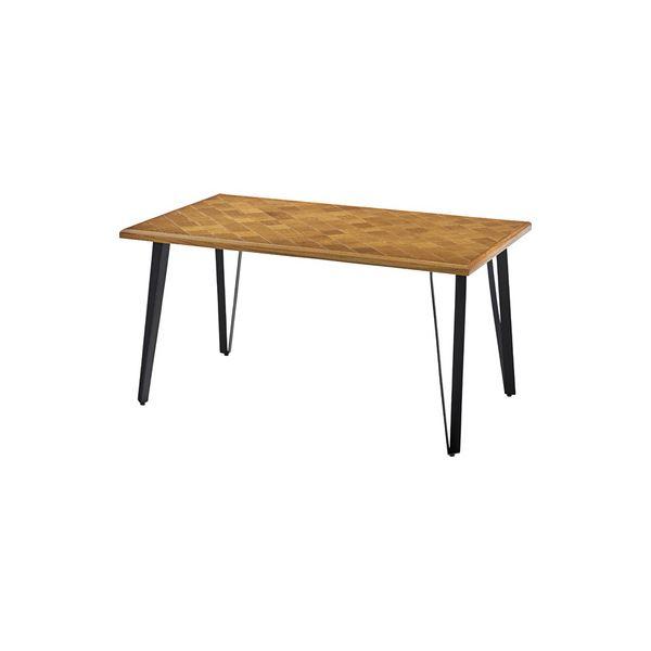 モダン ダイニングテーブル 【幅138cm】 長方形 木製 アイアン ウレタン塗装 『ジョーカー』 〔リビング 店舗 飲食店〕【代引不可】