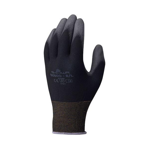 (まとめ)ショーワグローブ パームフィット手袋 B0500 ブラック L【×50セット】