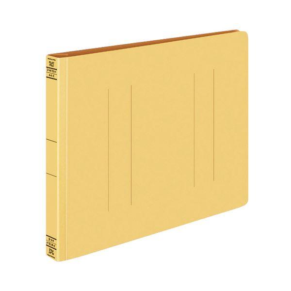(まとめ) コクヨ フラットファイルW(厚とじ) A4ヨコ 250枚収容 背幅28mm 黄 フ-W15Y 1セット(10冊) 【×10セット】