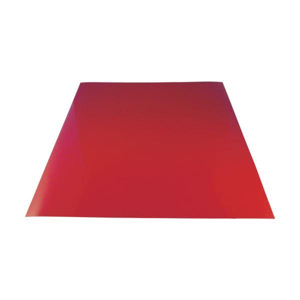 (まとめ) 下西製作所 カラーマグネットシート赤T0.9×300×300 NT7SR09300300 1個 【×10セット】