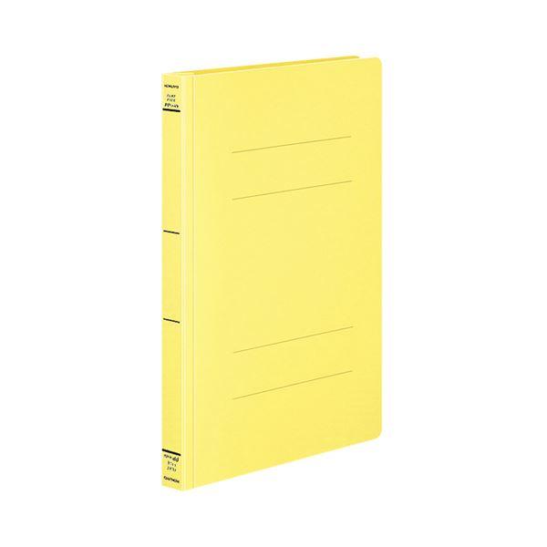 (まとめ) コクヨ フラットファイル(PPワイド) A4タテ 250枚収容 背幅30mm 黄 フ-HW10NY 1セット(10冊) 【×10セット】