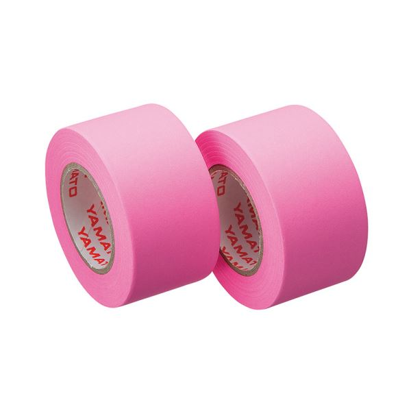 (まとめ) ヤマト メモック ロールテープ つめかえ用 25mm幅 ローズ WR-25H-RO 1パック(2巻) 【×30セット】
