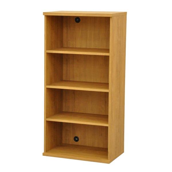 カラーボックス(収納棚/カスタマイズ家具) 4段 幅58.9×高さ120.3cm セレクト1260BR ブラウン【代引不可】