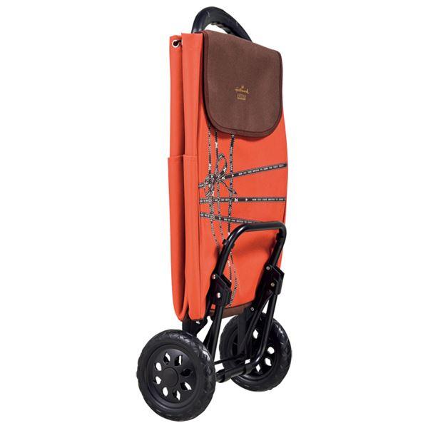 ショッピングカートリボンテープ柄 オレンジ幅30×奥行22×高さ50cm 積載重量7kgホールマーク〔お買い物〕OXuZTPki