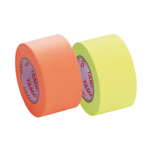 (まとめ) ヤマト メモック ロールテープ つめかえ用 25mm幅 レモン&オレンジ WR-25H-6C 1パック(2巻) 【×30セット】