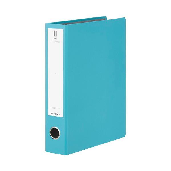 (まとめ) コクヨ チューブファイル(NEOS)A4タテ 500枚収容 50mmとじ 背幅65mm ターコイズブルー フ-NE650B 1冊 【×30セット】