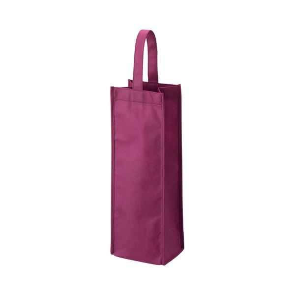 (まとめ) TANOSEE 不織布ワイン袋 ヨコ130×タテ370×マチ幅85mm ワインレッド 1パック(10枚) 【×10セット】