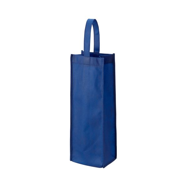 (まとめ) TANOSEE 不織布ワイン袋 ヨコ130×タテ370×マチ幅85mm ネイビー 1パック(10枚) 【×10セット】