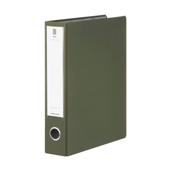 (まとめ) コクヨ チューブファイル(NEOS)A4タテ 500枚収容 50mmとじ 背幅65mm オリーブグリーン フ-NE650DG 1冊 【×30セット】