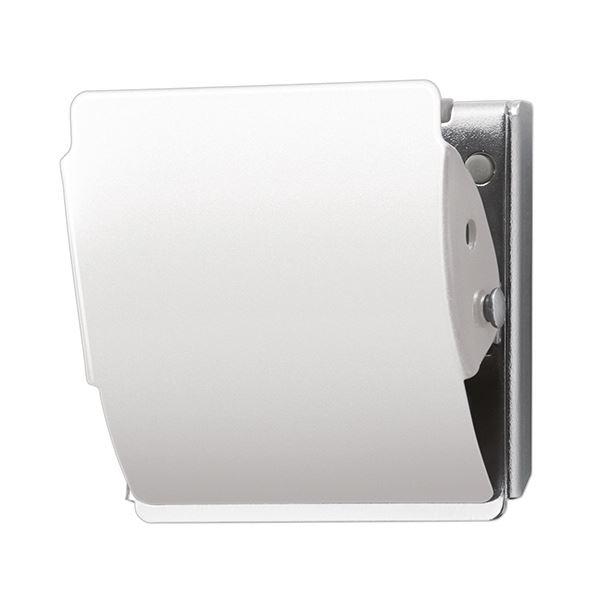 (まとめ) プラス マグネットクリップ ホールド Lホワイト CP-047MCR 1個 【×30セット】