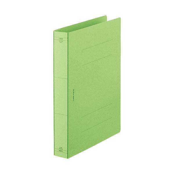 (まとめ) ライオン事務器 フラットファイルA4タテ 緑 AX-519S-10P 1パック(10冊) 【×10セット】