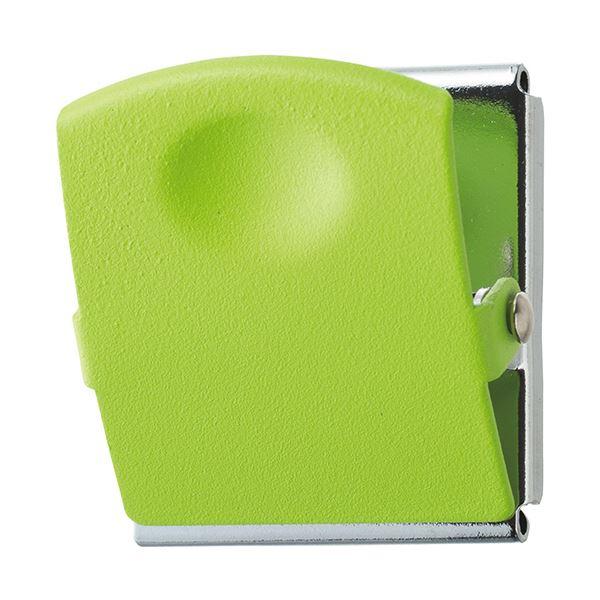 (まとめ) TANOSEE 超強力マグネットクリップL グリーン 1個 【×30セット】
