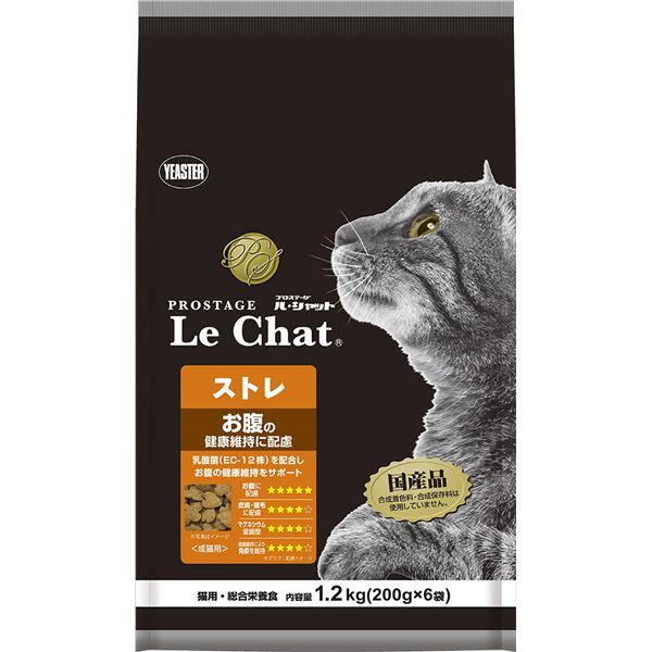 (まとめ)プロステージ ル・シャット ストレ 1.2kg(200g×6袋)【×6セット】【ペット用品・猫用フード】