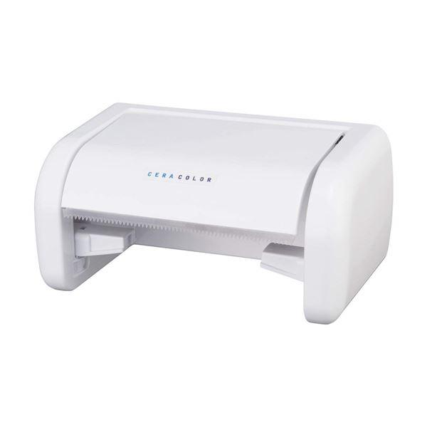 (まとめ) トイレットペーパーホルダー/トイレットペーパー収納 CC 片手でペーパーホルダー【24個セット】