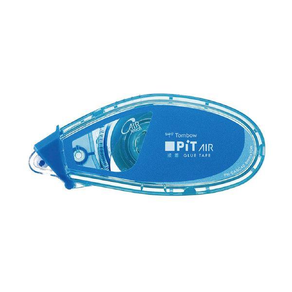 (まとめ)トンボ鉛筆 テープのりピットエアーミニ ブルー PN-EASC40 (×100セット)