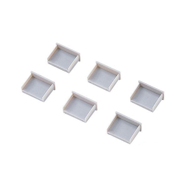 (まとめ) サンワサプライ USBコネクタキャップ つめなし TK-UCAP2-20 1パック(20個) 【×10セット】