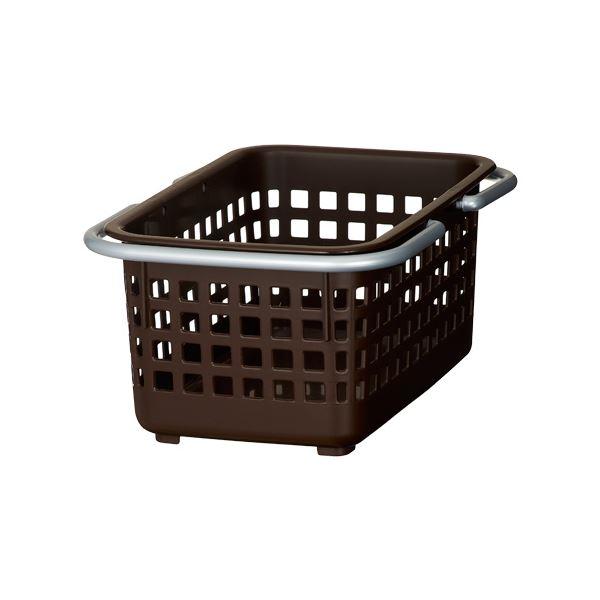 (まとめ) ミニバスケット/小物収納 【ブラウン】 ミニサイズ 『スカンジナビアスタイル』 【30個セット】