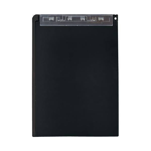 (まとめ)LIHITLAB クリップボード(スタンド付)A-5167-24 黒(×20セット)