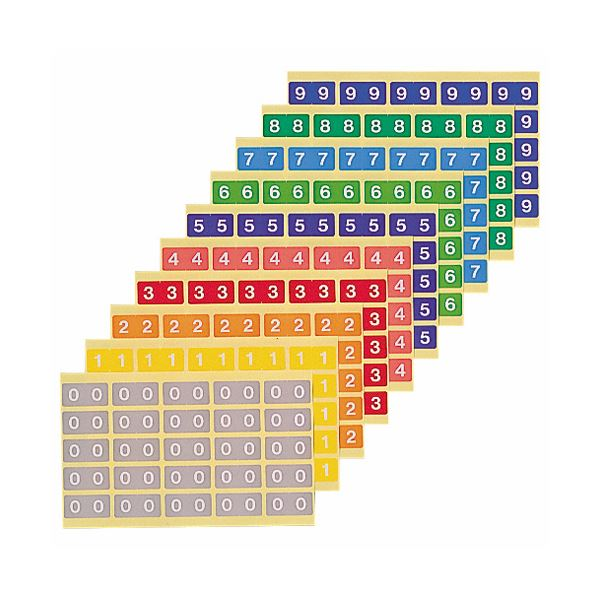 (まとめ) ライオン事務器 カラーナンバーラベルL数字4 KL-2-4 1パック(250片:25片×10シート) 【×10セット】