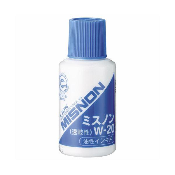 (まとめ) ライオン事務器 ミスノン 油性インキ用20ml W-20 1本 【×30セット】