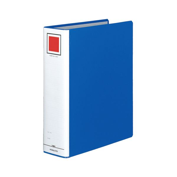 (まとめ) コクヨ チューブファイル(エコ) 片開き A4タテ 700枚収容 背幅85mm 青 フ-E670B 1冊 【×10セット】