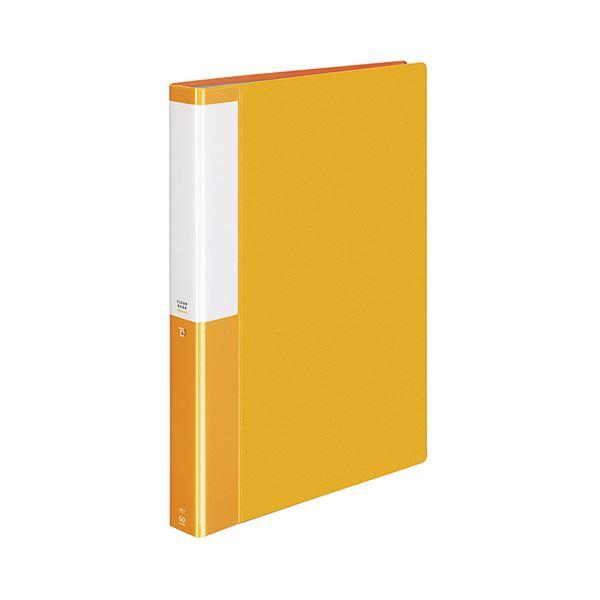 (まとめ) コクヨ クリヤーブック(クリアブック)(POSITY) 固定式 A4タテ 60ポケット 背幅35mm オレンジ P3ラ-L60NYR 1冊 【×10セット】
