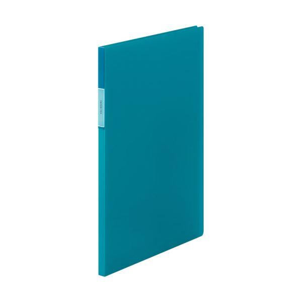(まとめ) キングジム FAVORITESクリアーファイル(透明) A4タテ 20ポケット 背幅12mm 青 FV166Tアオ 1冊 【×30セット】