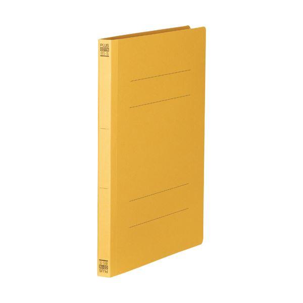 (まとめ) プラス フラットファイル 樹脂とじ具B5タテ 150枚収容 背幅18mm イエロー No.031N 1セット(10冊) 【×30セット】