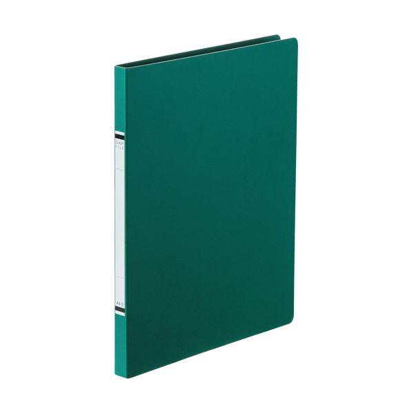 (まとめ) TANOSEEクランプファイル(紙表紙) A4タテ 100枚収容 背幅18mm 緑 1セット(10冊) 【×10セット】