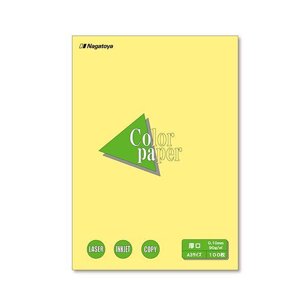 (まとめ) 長門屋商店 Color Paper A3 厚口 クリーム ナ-1303 1冊(100枚) 【×10セット】