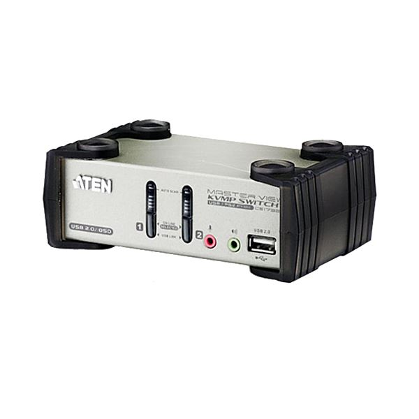 ATEN 2ポートデュアルインターフェース対応 USB2.0KVMPスイッチ OSD機能付 CS1732B 1台