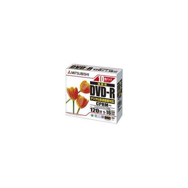 (まとめ)三菱ケミカルメディア 録画用DVD-R120分 ワイドプリンタブル 5mmスリムケース VHR12JPP10C 1箱(100枚:10枚×10個)【×3セット】