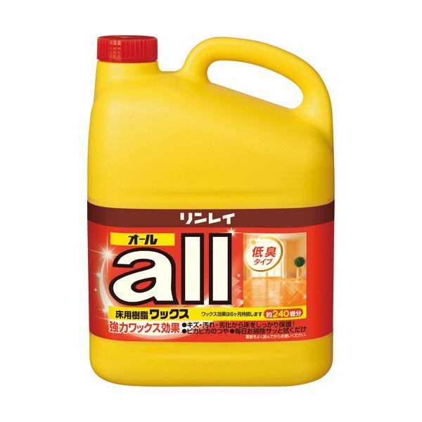 (まとめ)リンレイ 床用樹脂ワックスオール 業務用 4L 1本【×3セット】