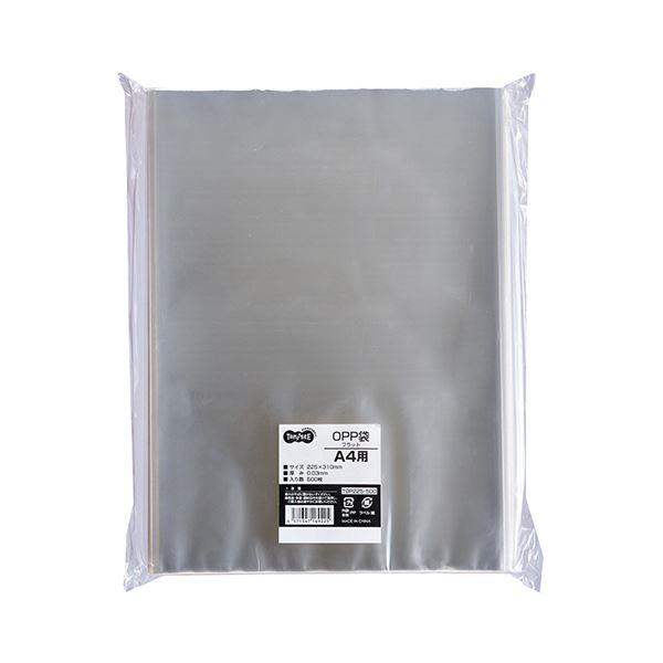 (まとめ) TANOSEE OPP袋 フラット A4225×310mm 1パック(500枚) 【×10セット】