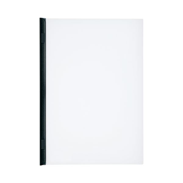 (まとめ)LIHITLAB スライドバーファイル G1720-24 黒 10冊【×30セット】