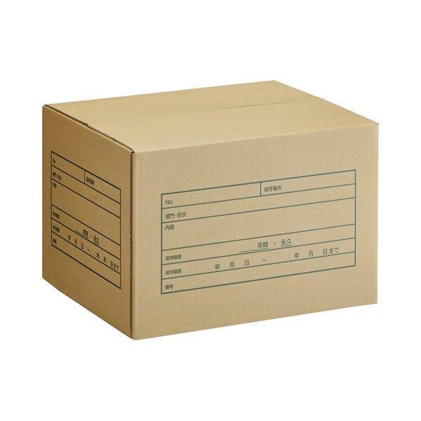 (まとめ) TANOSEE A式文書保存箱 A4用 内寸:W400×D320×H260mm 1パック(10個) 【×5セット】